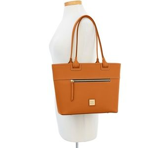NWT Dooney & Bourke Beacon Zip Tote in Orange